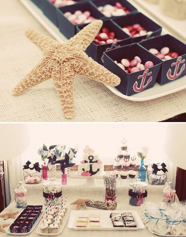 Candy Bar botez tema marina